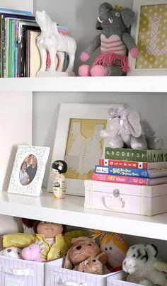 Styling a baby bookshelf