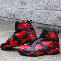 Air Jordan Retro 8 'Bulls On Fire' Customs by Zadeh Kicks