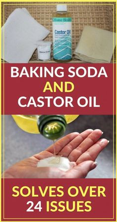 Castor oil and baking soda are one of the oldest ingredients you can find on the market and they have been used since ancient times thanks to their incredible healing and health beneficial properties. Instead of throwing away money at conventional treatm Natural Home Remedies, Natural Healing, Herbal Remedies, Health Remedies, Arthritis Remedies, Diabetes Remedies, Home Health, Health Tips, Health And Wellness