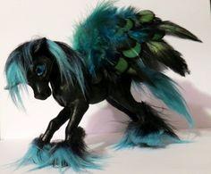 ***SOLD***  Fantasy Unicorn Pegasus Art Doll Sculpture http://www.ebay.com/usr/imaginefairies