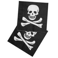 Ver detalles de Servilletas pirata negro (12)