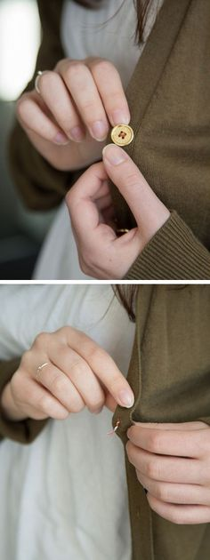Use a twist tie to secure loose buttons.