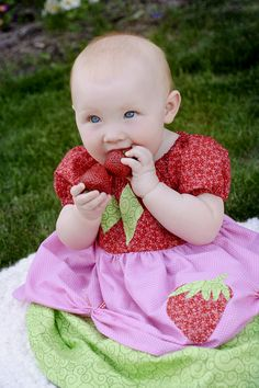 This is a little Strawberry Shortcake dress I made and sell on nannabells.etsy.com - come and order your today!
