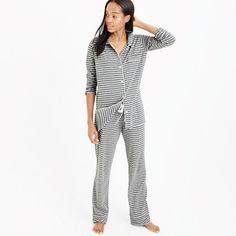 "There's a reason we call it dreamy. A bit of stretch makes these pj's extra comfortable—they're the ones you'll want to change into as soon as you get home (perfect for sleeping, lazy Sunday mornings with the paper, Netflix binges and more). <ul><li>Top hits at hip.</li><li>Wide leg.</li><li>32"" inseam.</li><li> Cotton.</li><li>Long sleeves.</li><li>Elastic waistband with drawstring on pant.</li><li>Machine wash.</li><li>Import.</li></ul>"