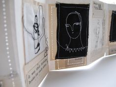 artists book by Cathy Cullis #stitching #mixed_media
