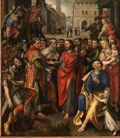 Geef aan de keizer wat van de keizer is door Maerten de Vos - 1602