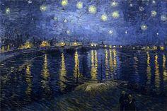 The Starry Night, 1888-Vincent van Gogh