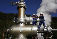 Geothermal Industry Grows, With Help From Oil and Gas Drilling Wind Power, Solar Power, Types Of Renewable Energy, Geothermal Energy, Parent Company, Solar Installation, Fire Powers, Alternative Energy, Oil And Gas