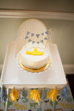 yellow submarine first birthday party