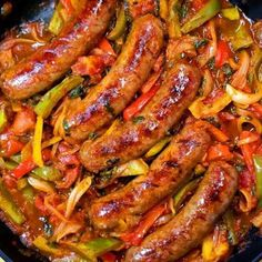 Italian Sausage Peppers and Onions - Recipes Today - Recipes for Joey/ Kelly - Wurst Onion Recipes, Easy Soup Recipes, Easy Dinner Recipes, Salad Recipes, Breakfast Recipes, Easy Meals, Cooking Recipes, Simple Recipes, Breakfast Salad