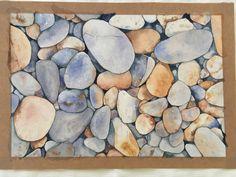 Rocks watercolor painting Original watercolor by LouiseDeMasi
