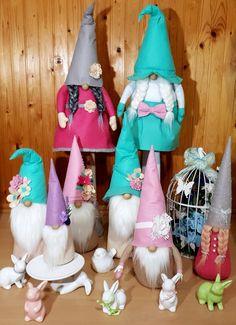 Friend Photos, Scandinavian, Christmas Decorations, Pink, Gnomes, Felt, Xmas, Leprechaun, Christmas Decor
