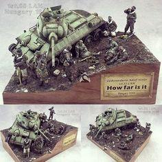 """How Far Is It? Hungary 1944"" diorama. Modeler 天鵝 (Swan) #scalemodelkit #plastimodelismo #plasticmodel #plastimodelo #war #guerra #guerre #bataille #miniatura #miniature #maqueta #maquette #modelismo #modelism #modelisme #miniatur #usinadoskits #udk #hobby #diorama #passatempo #tiempolibre #ミニチュア #моделизм"