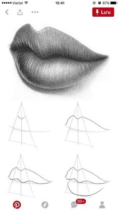 How To Draw Lips 10 Easy Steps Drawing Art Drawings Drawings Art