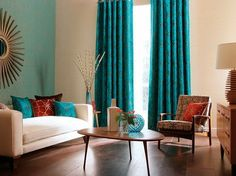 Captivating Turquoise Curtains For Living Room · About Curtain Ideas On Pinterest Turquoise  Curtains, Burlap Curtains . ...