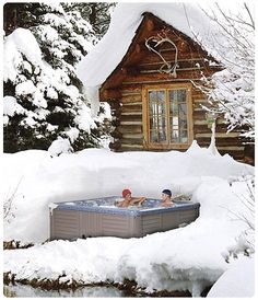 snow cottage hot tub