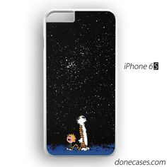 calvin and hobbes star moon iPhone 6 / 6S Case