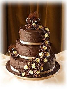 german chocolate wedding cake - Google Search