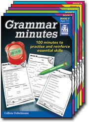 One hundred minutes to better grammar! This exciting six-book blackline master series from R.I.C. Publications will help your students apply and extend their grammar skills step by step over one hundred minutes.