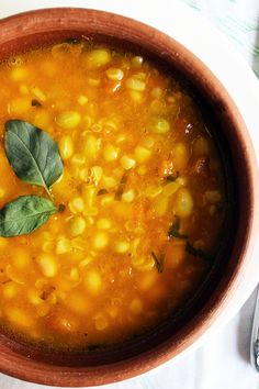 Porotos Granados (cranberry beans stew - Chilean recipe)