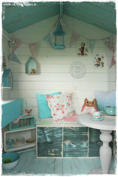 Hometalk | Outdoor Playhouse Fun---Interior Shot