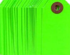 Neon green gifttags, www.kindbynature.dk