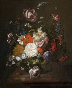 Rachel Ruysch, Still Life, Flowers and Insects