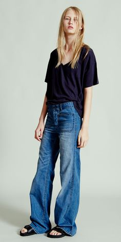 NLST l V-Neck T and High Waisted Sailor Pant #NLST #SS15 #womenswear nlst-usa.com