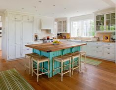 turquoise kitchen island | Jonathan Raith & Co.