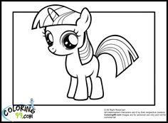 My Little Pony Coloring Pages Twilight | My Little Pony Twilight Sparkle Coloring Pages | Coloring99.com