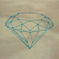DIY: My diamond blue string art