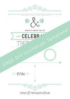 FREE Wedding Invitation Template via ahandcraftedwedding.com. #wedding #invitation #vintageposter