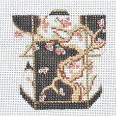 Lee's Needle Arts: Cherry Tree Petite Kimono handpainted needlepoint canvas