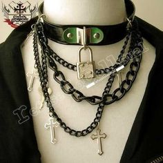 I found 'Gothic Punk Lock & Key Choker Necklace B by runnickyrun on Etsy' on Wish, check it out!