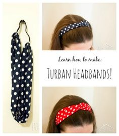These turban headbands are super cute, and they have elastic so they stretch to fit any sized head! Learn to make your own with this step by step tutorial with photos!
