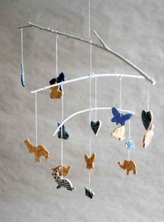 Wind Chime with 16 ceramic lace-pattern figures. $20.00, via Etsy.
