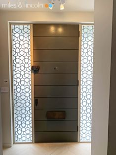 Laser cut glazed screens - London - Agra design by Miles and Lincoln. www.milesandlincoln.com Laser Cut Screens, Laser Cut Panels, Agra, Laser Cutting, Gates, Lincoln, Doors, Luxury, Interior