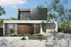 Residential Architecture, Modern Architecture, Long House, Full House, Mid Century Exterior, Modern House Facades, Modern Contemporary Homes, House Front Design, Display Homes