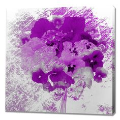 Flowers For Faith Painting Print on Wrapped Canvas