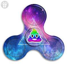 Rainbow Smiling Poop Emoji Fidget Spinner Toys Hand Spinner Tri-fidget Spinners Stress Reducer - Fidget spinner (*Amazon Partner-Link)