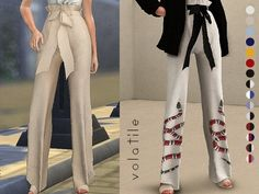 Chateau Tied Pants - The Sims 4 Download - SimsDom