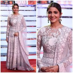 "26.8k Likes, 68 Comments - Pinkvilla (@pinkvilla) on Instagram: ""Umang 2018: The Newlywed bride Anushka Sharma looks resplendent in a white Anarkali suit! ❤️ Double…"""