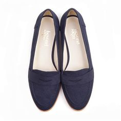 Beyond Skin Kate round toe flat vegan loafer court shoe made from navy faux suede with synthetic faux leather lining 100% Vegan, vegetarian and cruelty-free. $145.18 USD
