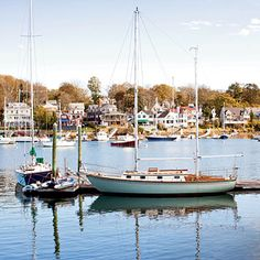Sailing vessels in Smith Cove off Rocky Neck in Gloucester, Massachusetts | Coastalliving.com