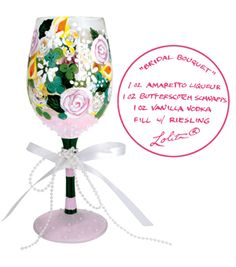 Celebrate your marriage and the many wonderful years to follow with the Lolita Bridal Bouquet Wine Glass as part of her Love My Wine collection.