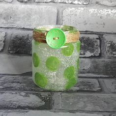 Brussel Sprout Jar Light, Upcycled nightlight, Decoupage, recycled, rustic, pen holder, vase, repurposed, sweet jar, Christmas decor