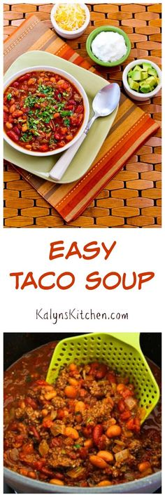 This Easy Taco Soup is one of my favorites to make for a family party ...