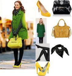 Gossip Girl: Blair Waldorf in Louboutin pumps, Longchamp satchel