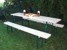 Picnic Table Folding German Beer Garden Table Benches