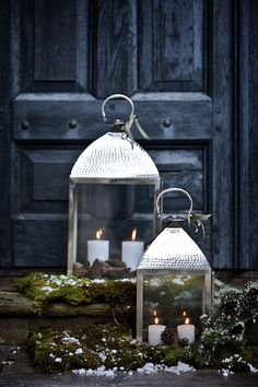 love using outdoor lanterns with candles any time of the year